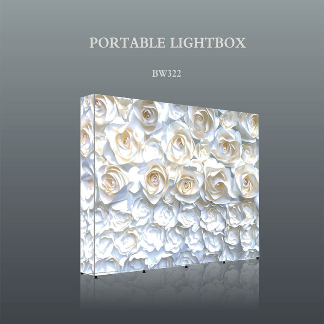 LED Portable Lightbox/seg pop up lightbox