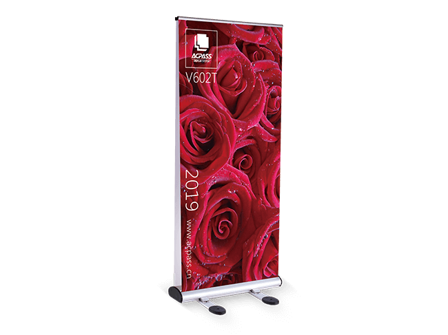 double-sided graphics of outdoor pull up banner enhance advertisement exposure