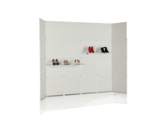 Portable Modular Slatwall Display SW801
