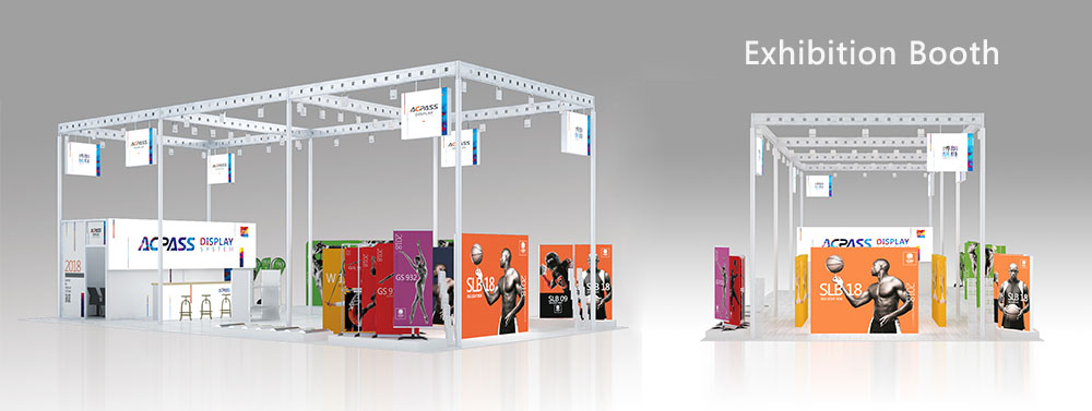 Exhibition booth design and trade show booth display