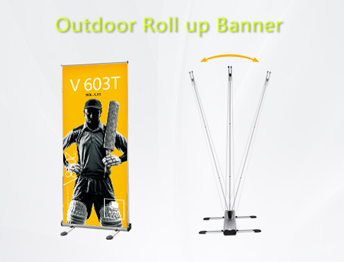 outdoor roll up banner stand/retractable banner stand